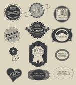 Label, typography, calligraphic design elements — Stock Vector