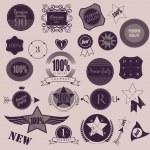 Set of retro vintage labels. Vector illustration. — Stock Vector #41656399