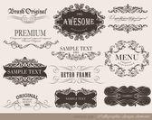 Calligraphic design elements — Wektor stockowy