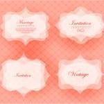 Invitation card in retro style. — Vector de stock