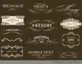 Elementi di disegno calligrafico — Vettoriale Stock