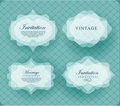 Invitation card in retro style. — Stock Vector