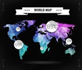 World map card — Stock Vector