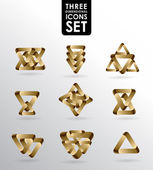 Business Design elements ( icon ) set for print and web. vector — 图库矢量图片