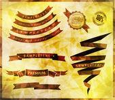 Retro ribbons and scrap booking — Stockvektor