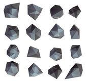 Burbuja poligonal moderno abstracto — Foto de Stock