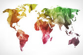 World map background in polygonal style — Stock Photo