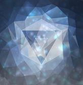 Modern abstrakt mit polygonen design — Stockfoto