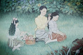 Original Image of Lai thai, Thai painting ,Thailand — Stock Photo