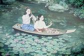 Original Image of Lai thai, Thai painting ,Thailand — Stock Photo