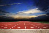 Athlete Track or Running Track with nice scenic — Foto de Stock