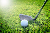 Golf sport with soft focus — Stock Photo