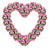 Flowers heart with clipping path — Stock Photo