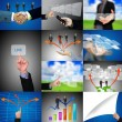 Business hand collection — Stock Photo