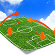 Stock Photo: Tactic on soccer field