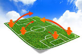 Tactic on the soccer field  — Stock Photo