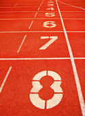 Running Track Lane Numbers — Стоковое фото
