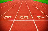 Running Track Lane Numbers — Stock Photo