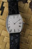 Men's elite classic wristwatch. — Stock Photo