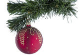 Christmas toy ball of red. — Stock Photo