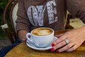 Cup of coffee (coffee brake) — Stock Photo