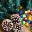 Christmas composition with garland and bumps — Foto Stock #35542703