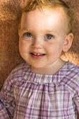 Portrait of cute little baby girl — Stock Photo