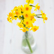 Bouquet of yellow lent lilly (daffodil) on wooden surface — Stock Photo #41670395