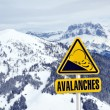 Stock Photo: Avalanche sign