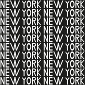 New York typography seamless background pattern. Vector illustration — Stock Vector