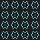 Cyan flower seamless pattern. Vector illustration — Stock Vector