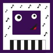 монстр музыкант — Cтоковый вектор