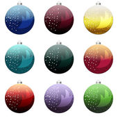 Christmas bollar set — Stockfoto
