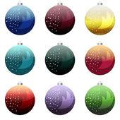 Christmas balls satz — Stockfoto