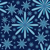 Blue Flowers Seamless Pattern — Stock Vector