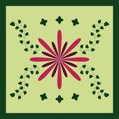 Flowers Tile Seamless Pattern — Stock Vector
