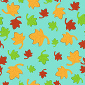 Leaf Fall Seamless Pattern 2 — Stock Vector