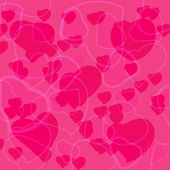 Pink Valentine's day background with hearts — ストックベクタ