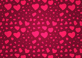 Valentine's Day Background With Pink Hearts — Stock Vector