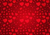 Rode valentijnsdag achtergrond met hart — Stockvector