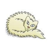Light Fluffy Cat Vector Illustration — Stock Vector