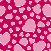 Pink Valentines Day Background Seamless Pattern — Stock Vector