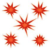 Bursting star — Stock Vector