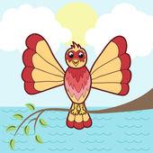 Vektor-illustration von fantastischen vogel — Stockvektor