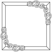 Contour decorative ornate frame. Vector illustration — Stock vektor