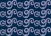 Blue ornate seamless pattern — Stock Vector