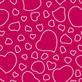 Bright Pink Valentines Day Seamless Pattern — Stock Vector