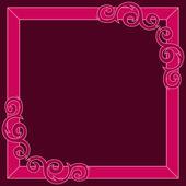 Crimson decorative ornate frame. Vector illustration — Stock Vector