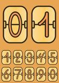 Countdown timer, cartoon scoreboard — ストックベクタ