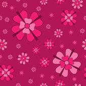 Fiori cowberry con seamless pattern archi — Vettoriale Stock